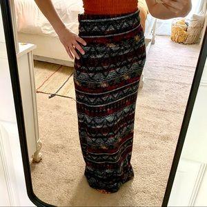 Small Maxi tribal pattern skirt
